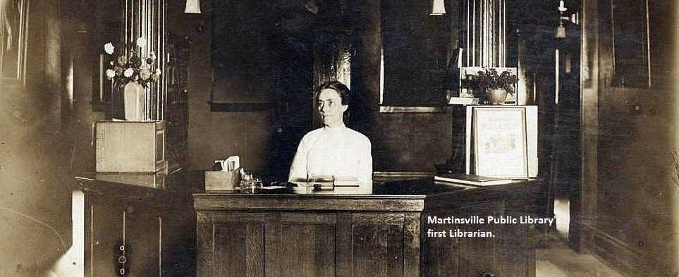 Martinsville Public Library's first Librarian